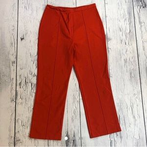 Vintage 70's bell bottom pants red stretch fit